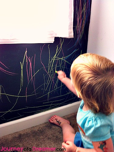 chalkboard wall toddler coloring