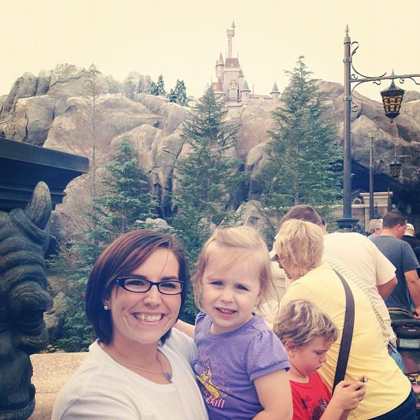 Visiting Belle's Castle at the New Fantasyland back in November