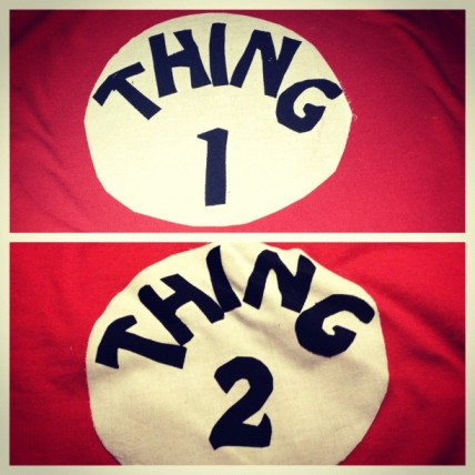 Thing 1 and Thing 2 Costume